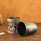 復古桌面小號垃圾桶創意北歐迷你無蓋簡約家用客廳臥室可愛桌上筒 安妮塔小舖