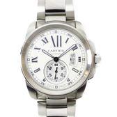 Cartier 卡地亞 白色錶面不銹鋼腕錶 Calibre de Cartier W7100037 【BRAND OFF】