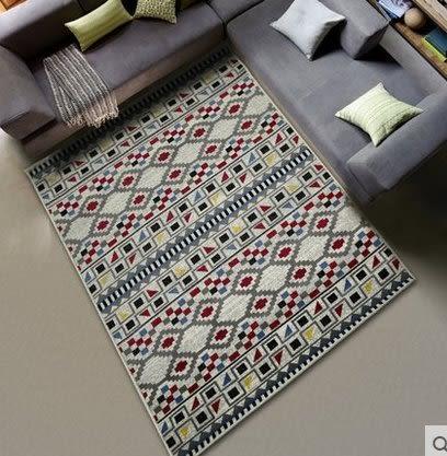 北歐簡約現代沙發客廳茶几地毯床邊房間臥室滿鋪長方形家用可機洗