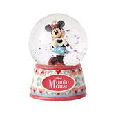 《Enesco精品雕塑》迪士尼甜心米妮水晶球/雪球-I Heart Yout(Disney Traditions)★funbox生活用品★_EN93261