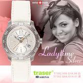 Traser Ladytime Silver/Black時尚錶#100363#100323【AH03068】99愛買生活百貨