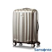 Samsonite新秀麗 20吋Cubelite Curv黑標拉鍊四輪硬殼行李箱(香檳金)