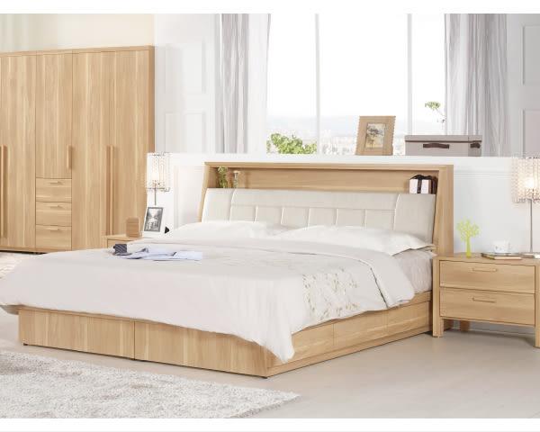 床底【YUDA】波里斯 5尺 被櫥式 雙人床(不含床墊.單邊抽屜)/床底/床架/床台 J8M 077-2