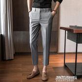 西裝褲 西褲男修身小腳九分褲薄款韓版潮流男士休閒9分西裝褲子   傑克型男館