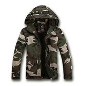 【美國熊】美式休閒 秋季款 合身版型 潮流 顯瘦 連帽迷彩夾克外套 情侶款 送男友 [VAS-01]