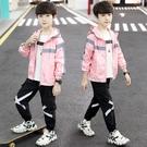 男童外套韓版外套 秋季中大童百搭夾克外套 時尚男童外套 簡約潮流男童外套 牛仔印花潮流外套