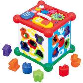 《 日本 Toyroyal 樂雅 》聲光積木六面盒 ╭★ JOYBUS玩具百貨