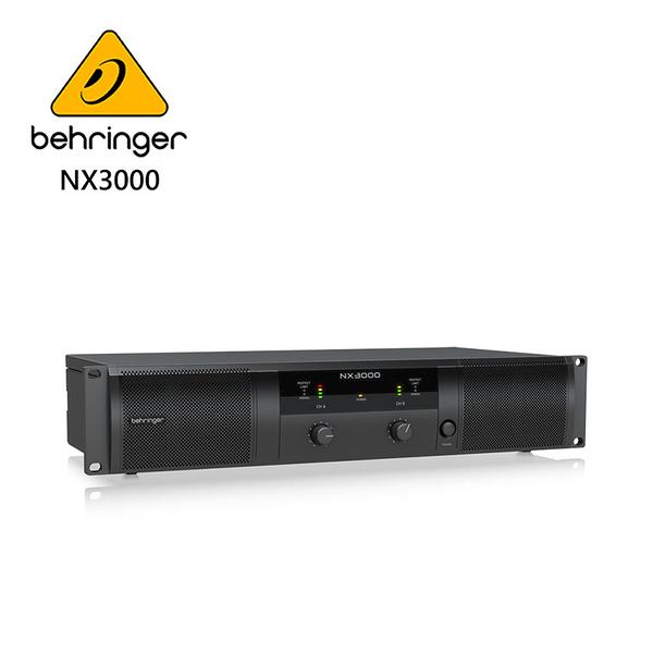 BEHRINGER NX3000專業PA喇叭功率擴大機(超輕型3000瓦/ D類技術/ SmartSense揚聲器)