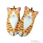 可愛豬貓咪創意烤箱手套微波爐防燙加厚隔熱防熱耐高溫烘焙手 【快速出貨】