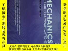 二手書博民逛書店Mechanics罕見Research Communications (Journal) 07 2017 力学研究