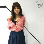 新品2% 兩穿格紋襯衫-紅