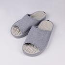 日本設計素面按摩拖鞋 -灰L
