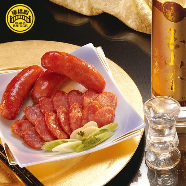 【黑橋牌】一公斤高粱酒黑豬香腸禮盒★網路限定包裝★