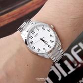 CASIO卡西歐格紋錶帶數字刻度腕錶 簡約錶款【NEC115】