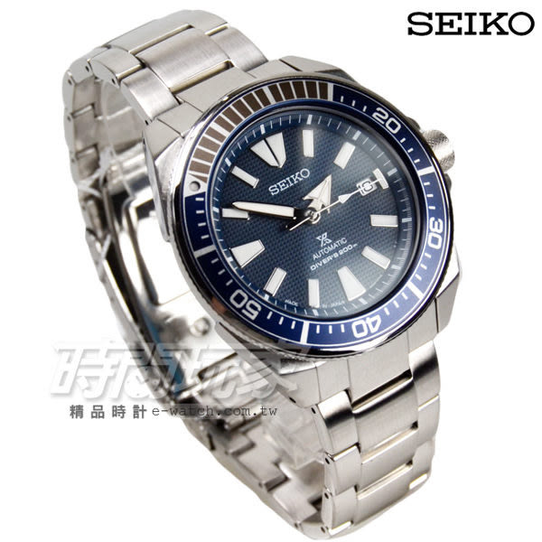 SEIKO 精工錶 Prospex DIVER SCUBA 200米潛水機械不銹鋼腕錶 夜光指針 男錶 藍 SRPB49J1 4R35-01V0B