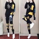 套裝 兩件套現貨運動套裝女韓版寬松個性時尚氣質休閑衛衣兩件套潮MA107-B 胖妹大碼女裝