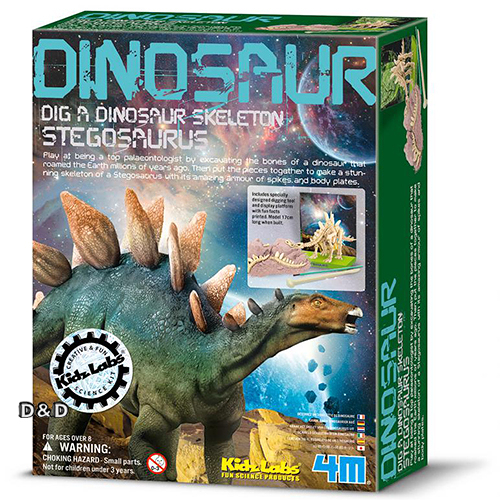 《4M挖掘考古》挖掘劍龍 Dig a Dino Skeleton ╭★ JOYBUS玩具百貨