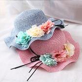 親子帽夏季防曬兒童帽女士沙灘遮太陽帽 LQ3479『小美日記』