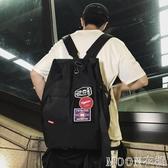 潮牌雙肩包男街頭時尚大容量背包學生斜挎書包女多功能旅行單肩包 moon衣櫥