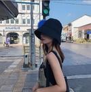 帽子女黑色漁夫帽女韓版夏季日系百搭水桶帽潮防曬遮陽帽素顏盆帽一米陽光