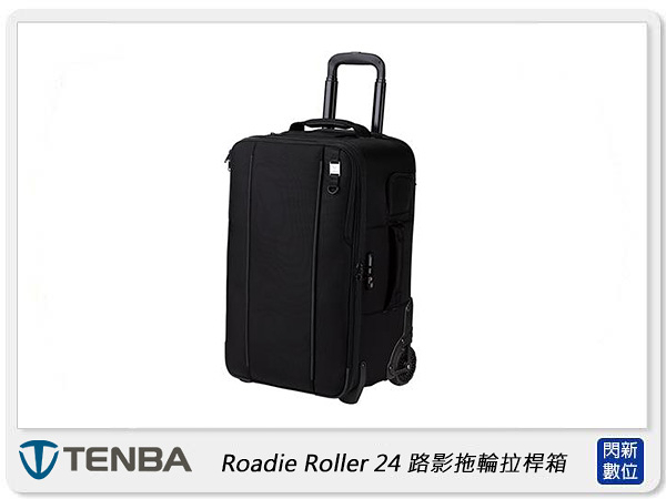 【分期0利率,免運費】Tenba 天霸 Roadie Roller 24 路影拖輪拉桿箱 相機包 攝影包 黑色 (公司貨)