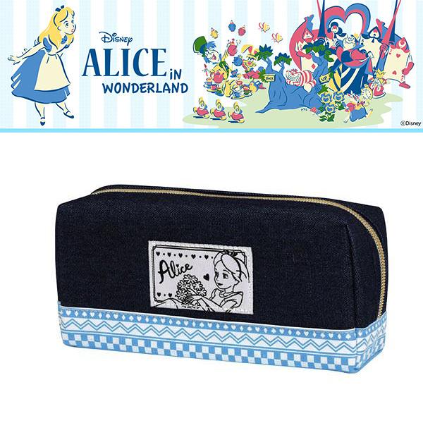 【五折】迪士尼公主 愛麗絲 筆袋 收納包 高質感 丹寧 Disney 日本正版 該該貝比日本精品