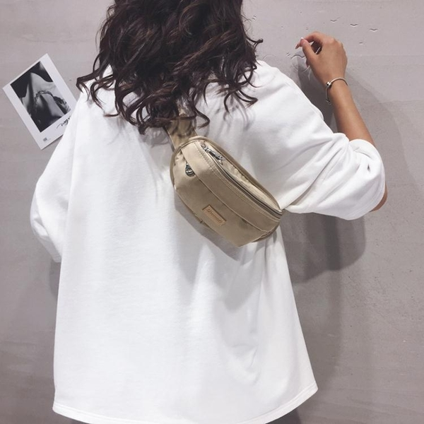 胸包包包女2020新款韓版百搭學生運動胸包ins網紅簡約帆布側背斜背包 雙11 伊蘿