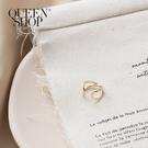 Queen Shop【07030591】交叉環繞造型金色系耳扣*現+預*