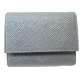 CELINE 賽琳 灰色牛皮短夾 Small Trifold Wallet【二手名牌BRAND OFF】