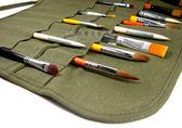 純棉帆布繪畫毛筆簾水粉筆袋毛筆專用插筆袋 收納袋 畫筆整理筆卷     時尚教主