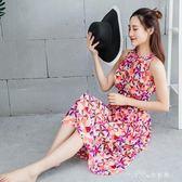 韓國泳裝女長裙式長款連體平角褲保守遮肚顯瘦連身溫泉游泳衣 小確幸生活館
