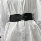 腰鏈 腰封 彈力寬腰帶女裝飾 黑色束腰帶百搭裙子配大衣外套寬簡約時尚  店慶降價