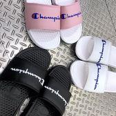 Kumo shoes CHAMPION 拖鞋 運動拖鞋 小LOGO 英文草寫