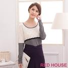 【RED HOUSE-蕾赫斯】蕾絲點點針織衫(米白色) 滿1111折211