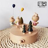 木質音樂盒小火車八音盒手工生日禮物女生櫸木創意兒童禮物木制 陽光好物