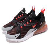 Nike 慢跑鞋 Air Max 270 黑 紅 大氣墊 大型後跟氣墊 舒適緩震 運動鞋 男鞋【PUMP306】 AH8050-015