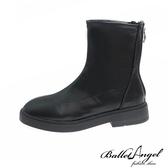 短靴 俐落素面方頭低跟短靴(黑)*BalletAngel【18-S88bk】【現+預】