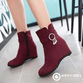 內增高女鞋短靴磨砂絨面靴子 Xdpj55