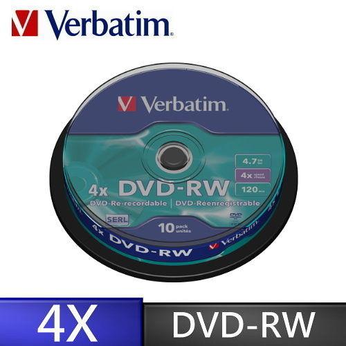 ◆免運費◆Verbatim 威寶 光碟燒錄片 AZO 4X DVD-RW 4.7GB (10片布丁桶裝X3) 30P= 贈CD棉套100PX1包