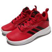 adidas 籃球鞋 Cloudfoam Ilation 2.0 K 紅 黑 高筒 基本款 女鞋 大童鞋【PUMP306】 DB0138