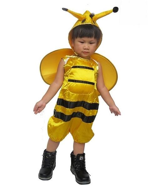可愛動物造型服-小蜜蜂三件組  萬聖節服裝聖誕節服裝 服裝道具角色扮演動物服恐龍裝