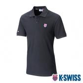 K-SWISS Heritage Polo W/Shield Logo Patch短袖POLO衫-男-黑