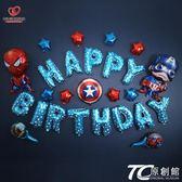 派對裝飾品/兒童生日氣球裝飾布置套餐寶寶周歲生日快樂氣球卡通字母派對用品 TC原創館