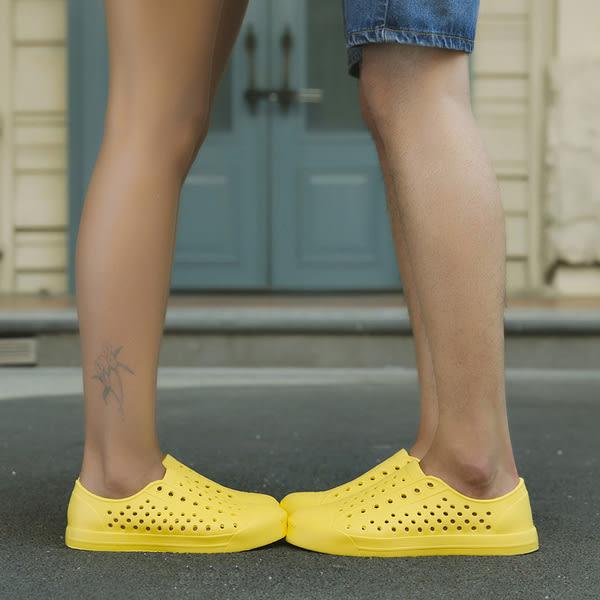 【TT】懶人鞋 男女洞洞鞋 男士涼鞋 沙灘情侶鞋 休閒涉水鞋 防滑男女涼拖