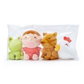 小禮堂 大寶 絨毛玩偶組 附收納包 玩偶禮盒 絨毛娃娃 小玩偶 布偶 (4入 紅 微笑工坊) 4550337-75676