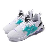 Nike 休閒鞋 React Presto 白 紫 綠 復古配色 男鞋 【ACS】 AV2605-101