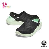 Crocs卡駱馳洞洞鞋 女鞋 LITERIDE 園丁鞋 防水布希鞋 水陸鞋 懶人鞋 A1746#墨綠◆OSOME奧森鞋業