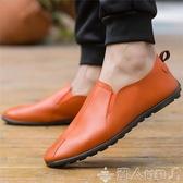 紳士鞋中國紳士男鞋2020夏精神小伙懶人潮鞋透氣上班休閒防水皮鞋布鞋 潮人