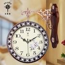 北極星歐式雙面鐘客廳大號兩面掛鐘靜音創意時鐘現代石英鐘錶掛錶 全館免運