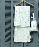 【EBC】法蘭絨童毯(溫柔北極熊)-粉綠